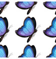 seamless pattern tile cartoon with butterfly vector image
