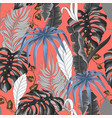seamless pattern with tropical banana palm vector image vector image