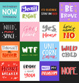 slogan quote phrases typography lettering vector image