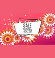 spring sale paper cut flowers for your design vector image vector image