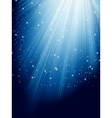 Stars on blue striped background EPS 8 vector image vector image