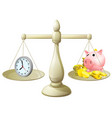 time money scales vector image vector image