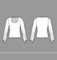top with kimono long sleeves technical fashion vector image vector image