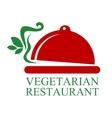 Vegetarian Restaurant sign vector image vector image