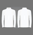 white high neck long sleeve t shirt vector image