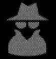 white pixel spy icon vector image