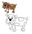 dog bulldog coloring vector image