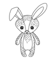 rabbit cute wildlife icon vector image