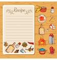 Recipe Book And Kitchenware vector image