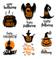 set of halloween banners trick or treat halloween vector image