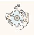 Music line icon vector image