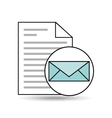 email paper document file design vector image