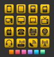 Communication device icons gummy theme vector | Price: 1 Credit (USD $1)