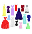 a set of different dresses vector image
