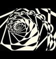 abstract duotone dark twirl background vector image