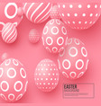 abstract easter pink background vector image vector image