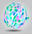 Abstract globe background vector image