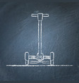 balancing scooter sketch on chalkboard vector image