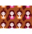 Beautiful girls seamless pattern eps 10 vector image