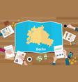 berlin german germany city region economy growth vector image vector image