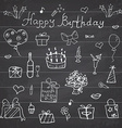 Birthday elements Hand drawn set with birthday vector image vector image