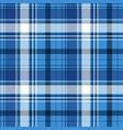 blue tartan fabric texture vector image vector image