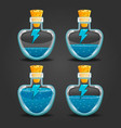 bottle of magic elixir with energy symbol vector image