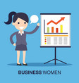 businesswoman in a presentation vector image vector image