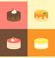 cake icon set vector image