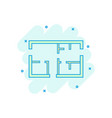 cartoon house plan icon in comic style architect vector image vector image