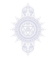 Chakra Vishuddha vector image
