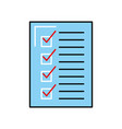 check list approved document business vector image