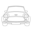 classic car front side vector image vector image