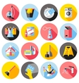 Cleaning Service Flat Icons Set vector image vector image