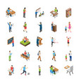 college and university students flat icons vector image vector image