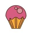delicious cupcake sweet icon vector image vector image