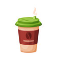 disposable coffee cup espresso latte cappuccino vector image vector image