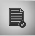 document and check mark icon checklist icon vector image vector image