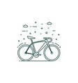 eco transportation icon with bike in motion vector image