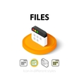 Files icon in different style vector image vector image