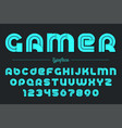 gamer decorative font design alphabet vector image vector image