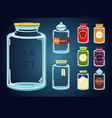 Glass Jar Set vector image