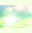 green bokeh abstract light background white bokeh vector image