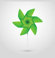 green pinwheel vector image vector image