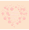 Happy mothers day template vector image