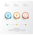 hardware icons set collection of aux cord vector image vector image