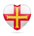 Heart icon of Guernsey vector image vector image