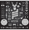 Huge set of vintage styled design hipster icons vector image