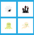icon flat halloween set of specter phantom vector image vector image