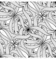intricate floral braided seamless pattern vector image vector image